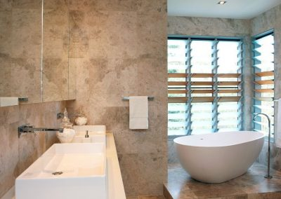 Privacy blades can be used in the bathroom
