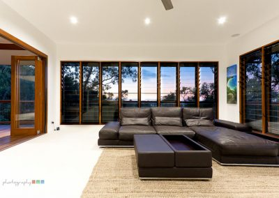 Watch the sunset in the distance when Altair Louvres with clear glass blades are installed